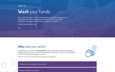 How to wash your hands elearning example